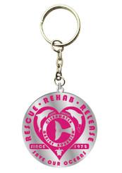 Retro Rescue Pink Enamel Keychain