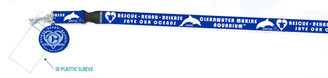 Retro Rescue Royal Blue Lanyard with ID Tag