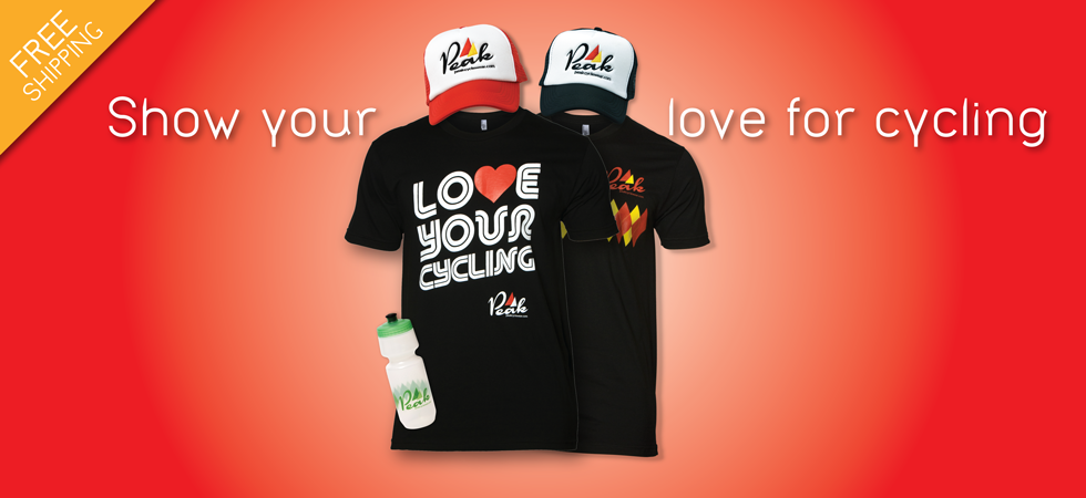 Show your love for cycling - Peak Cycle Wear merchandise & accessories