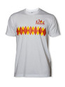 Peak Argyle T-Shirt in White.