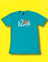 Peak Logo T in Teal. AS Colour Paper Tee.