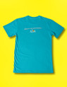 Peak Cycle Wear Attack T in Teal. Back design in English.