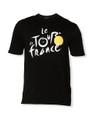 le Tour de France Official Logo T-Shirt in black.