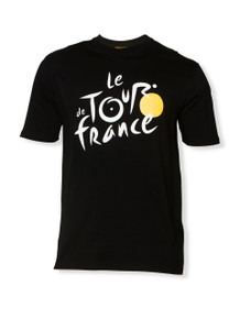 le Tour de France Official Logo T-Shirt in black.
