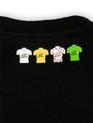 le Tour de France Official Logo T-Shirt in black. Back detail - 4 winners jerseys.