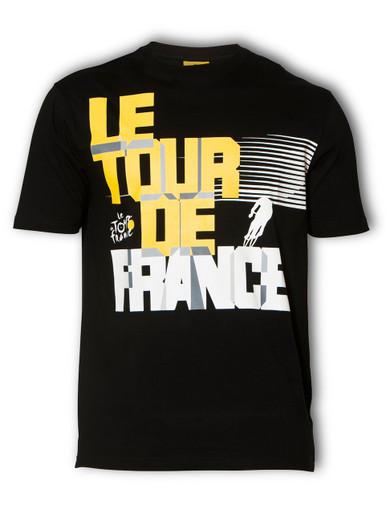 le Tour de France Velo T-Shirt in black.