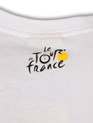le Tour de France Official 2012 Course Map T-Shirt in white. Rear Logo detail.