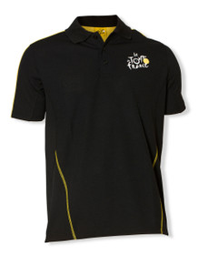 le Tour de France Official Logo Sports Polo in black.