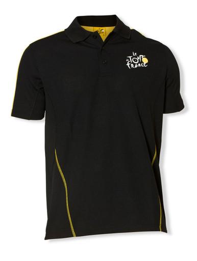le Tour de France Official Logo Sports Polo in black.