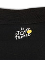 le Tour de France Official Logo Sports Polo in black. Rear logo detail.