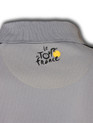 le Tour de France Official Logo Sports Polo in grey. Back logo detail.