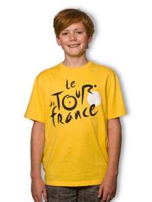 le Tour de France Kids Logo T-Shirt in Leaders Yellow