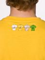 le Tour de France Kids Logo T-Shirt in Leaders Yellow - back detail 4 winners jerseys