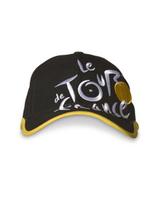 le Tour de France logo Cap in black.