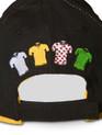 le Tour de France logo Cap in black. Rear detail.