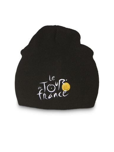 le Tour de France woven Beanie in black.