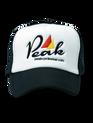 Peak Cycle Wear Trucker's Cap in Black.