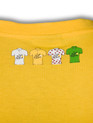 le Tour de France Logo T-Shirt in 'winners' yellow. Rear detail.