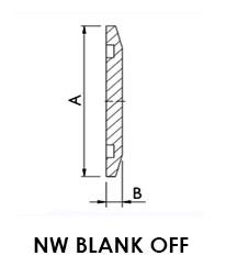 NW 40 Blank Off Flange (LVFBN40S)