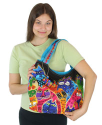 Laurel Burch Whiskered Family Scoop Tote LB5601