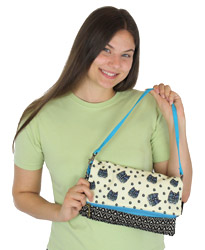 Laurel Burch Polka Dot Gatos Flap Clutch LB5750C