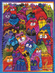 "Laurel Burch Card Friendship ""Whiskers"" - FRG13246"