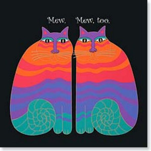 Laurel Burch Card Friendship - Cats Square - FRQ23414