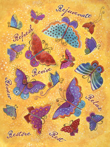 """Laurel Burch Card Get Well """"Butterflies"""" - GWG13257"""