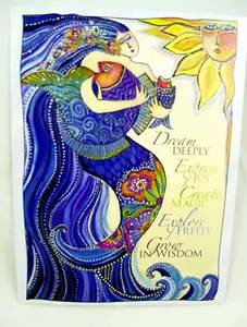 "Laurel Burch Card  Inspirational - ""Ocean Song"" - ISG44848"