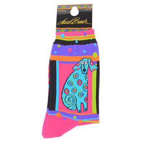 "Laurel Burch Socks  ""Matisse"" Dog  -  LB1043"