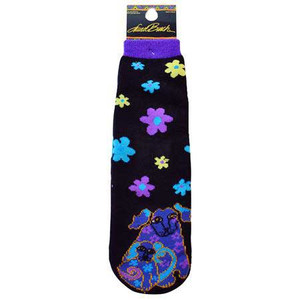 Laurel Burch Slipper Socks - Dog and Doggie - LB1111