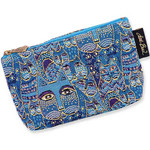 "Laurel Burch Tapestry Cosmetic Bag ""Indigo Cats""  - LB3090C"