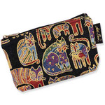 "Laurel Burch Tapestry Cosmetic Bag ""Fantastic Felines""  - LB3090D"