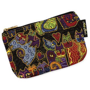 "Laurel Burch Tapestry Cosmetic Bag ""Karly's Cats""  - LB3090E"