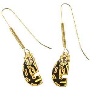 """Laurel Burch """"Snow Leopards"""" Drop Enamel Earrings - LB4111"""
