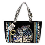 Laurel Burch Polka Dot Gatos Medium Tote - LB4312