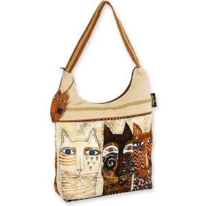 Laurel Burch Ancestral Cats Medium Scoop Bag - LB4762