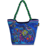 Laurel Burch Canine Family Large Scoop Tote - LB4850