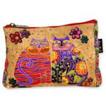 Laurel Burch Cotton Canvas Cosmetic Bag Flowering Feline- LB4880B
