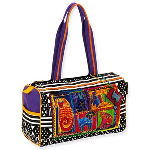 Laurel Burch Dog Tails Patchwork Medium Satchel LB5211