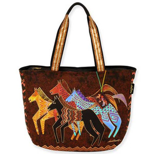 Laurel Burch Native Horses Shoulder Tote Bag LB5270