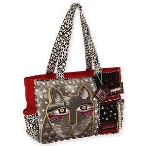 Laurel Burch Whiskered Cat Medium Tote Bag LB5312