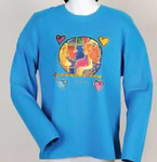 "Blue Laurel Burch Long Sleeve Tee Shirt ""Woman Spirit""  LBC215"