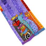 Laurel Burch Classic Silk Fabric Scarf Dream Believers LBS194