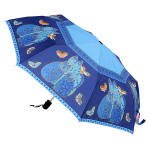 Laurel Burch Compact Umbrella Indigo Cats - LBU002A