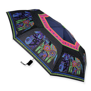 Laurel Burch Compact Folding Umbrella Dog and Doggies - LBU007A