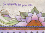 "Laurel Burch Card Sympathy ""Celestial Lotus "" - SYG13260"