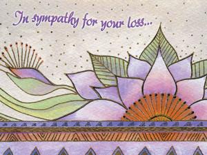 "Laurel Burch Card Sympathy ""Celestial Lotus "" - SYG13260"