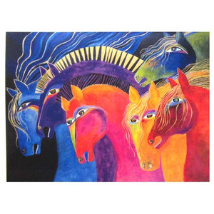 "Laurel Burch Birthday Card ""Wild Horses of Fire"" BDG11666"