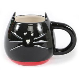 Black Cat Shaped Ceramic Mug 40126B